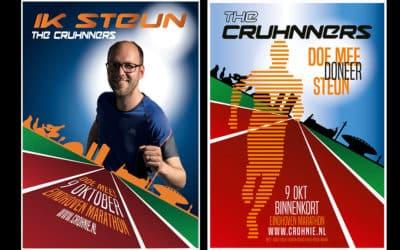Halve marathon rennen voor Crohnie
