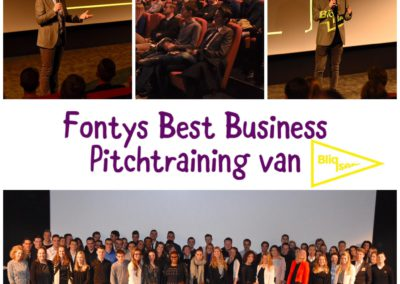 Pitchtraining Fontys Best Business 2017