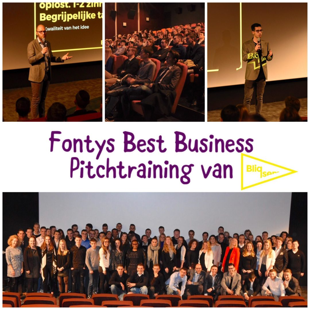 Pitchtraining Fontys Best Business