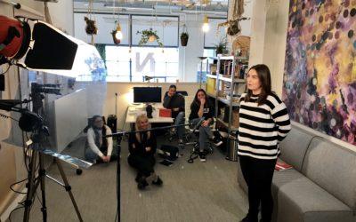 Pitchen & Pizza: Verpleegkundigen in opleiding van Parnassia leren pitchen en nemen pitchvideo's op in één dag