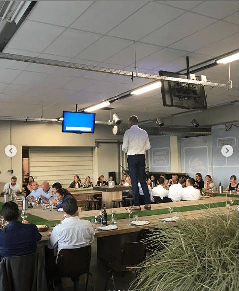 Een dialoogsessie met ondernemers en medewerkers bij Verspillingsfabriek in Veghel voor Rabobank Dommelstreek.