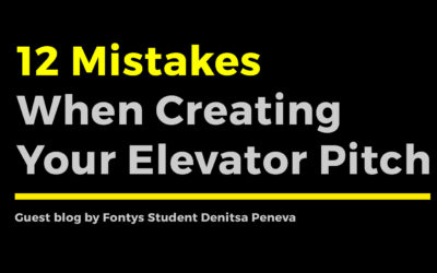 12 Mistakes When Creating Your Elevator Pitch