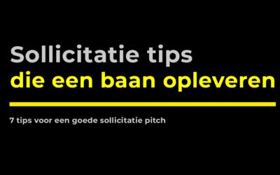 Zo maak je een sollicitatie pitch die een baan oplevert (7 tips)