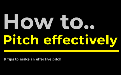 How to pitch yourself effectively: 8 tips + bonus tip!